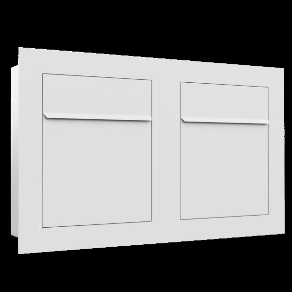 Boîte aux lettres multiples affleurante Bari for Two en blanche