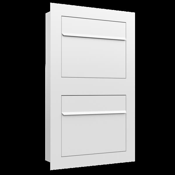 Boîte aux lettres multiples affleurante Sora for Two en blanc
