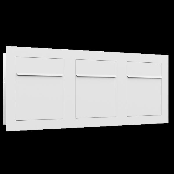 Boîte aux lettres multiples affleurante Bari for Three en blanche