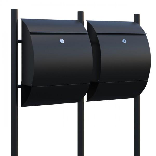 Boîtes aux lettres Sunshine pour deux Noire
