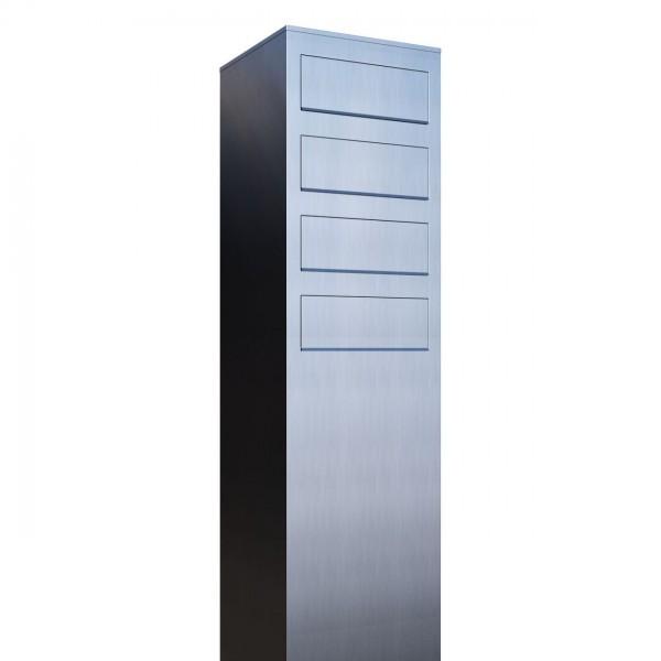Boîtes aux lettres Monolith pour quatre Inox